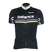 Kooplus-Men's 100% Polyester Short Sleeve Cycling Jersey