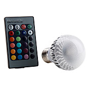 E27 5W RGB Light Remote Controlled LED Ball Bulb (85-265V)