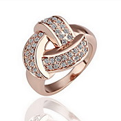 Gorgeous Cubic Zirconia 18K Gold Plated Knot Fashion Ring