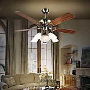 Contemporary Metal Hugger Ceiling Fan Lights with 5 Lights