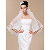 Marvelous 1 Layer Fingertip Length Wedding Veil