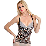 Chinlon With Animal Print Open Bust Shapewear Corset