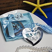 Butterfly & Heart Stainless Steel Bookmark Favor