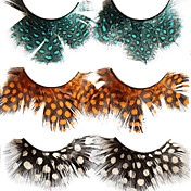 Feather Ball Fake Eyelashes(3 Pairs)