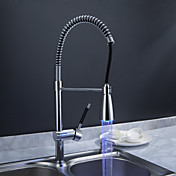 Sprinkle® by Lightinthebox - Solid Brass Spring Kitchen Faucet with Color Changing LED Light