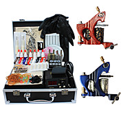 2 Guns Tattoo Kits with Top Quality LCD Power Supply