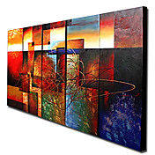 Modern Abstract Ready to Hang Stretched Canvas Oil Painting (Set of 5)