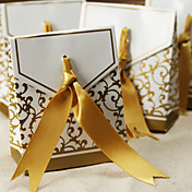 50th Anniversary Favor Box With Gold Ribbon (Set of 12)