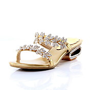 Leather Slippers / Sandals Honeymoon Shoes With Rhinestone (More Colors)
