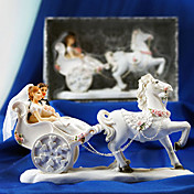 Carriage Bride & Groom Wedding Cake Topper