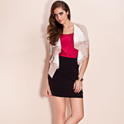 TS Contrast Color Lapel Jacket