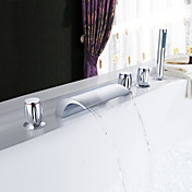 Sprinkle® by Lightinthebox - Brass Waterfall Tub Faucet with Hand Shower (Three Handles)