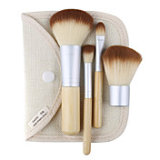 4PCS Nylon Brush with Bamboo Handle