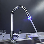 Sprinkle® by Lightinthebox - Solid Brass Pull Down Kitchen Faucet with Color Changing LED Light