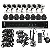 Ultra Low Price 16CH CCTV DVR Kit (H. 264, 8 Outdoor Waterproof& 8 Indoor IR Color Cameras)