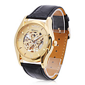 UnisexPU Analog Semi-Mechanical Fashionable Watch (Gold)