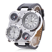 Unisex Multi-Movement Compass Thermometer PU Band Quartz Analog Wrist Watch (Assorted Colors)
