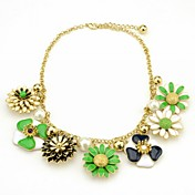 Gorgeous Alloy With Floral Tassels Women's Necklace