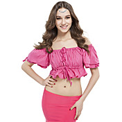 Women Dance Wear Linen Belly Top More Colors