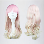 Pink and White Mixed Color 55cm Sweet Lolita Wave Wig