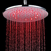7 Colors Changing LED Contemporary Chrome Shower Faucet Head of 12 inch