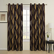 (One Panel) Classic Brown Chenille Thermal Curtain