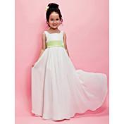 A-line Square Floor-length Chiffon Flower Girl Dress