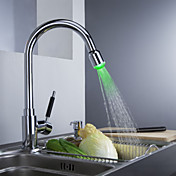 Sprinkle® by Lightinthebox - Solid Brass Kitchen Faucet with Color Changing LED Light