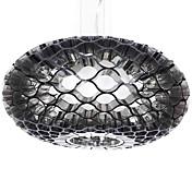 60W Modern Acrylic Pendant Light with 1 Light Honeycomb Design