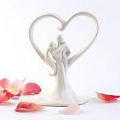 Ivory Sweet Hug Wedding Cake Topper