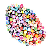 100pcs 3D Cane Stick Rod Sticker Nail Art Decoration