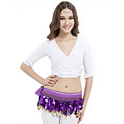 Dancewear Crystal Cotton Yoga Top for Ladies More Colors