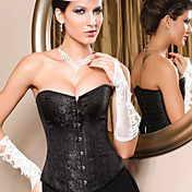 Acrylic/Spandex Strapless Lace-Up Corset Shapewear