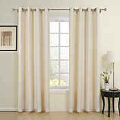 (One Panel) Classic Beige Jacquard Energy Saving Curtain