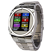 TW818 1.6 Inch of Ultra-thin All Steel Belt Camera MP3 Watch JAVA Mobile Phone