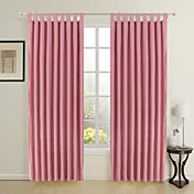 Girls' Wishes Solid Kids Curtains (Two Panels)