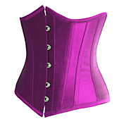 Gorgeous Satin Strapless Front Busk Closure Corsets Shapewear(More Colors)