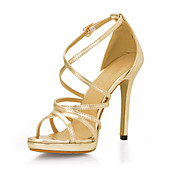 Elegant Leatherette Stiletto Heel Pumps With Buckle Party/Evening Shoes