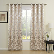(One Panel) Modern Rings Jacquard Energy Saving Curtain
