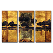 Hand-painted Oil Painting Landscape Oversized Wide Set of 3