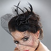 Unique Net With Feather/Flower Women's Fascinators