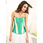 Viscose With Stripe Strapless Front Busk Closure Corsets Shapewear(More Colors)