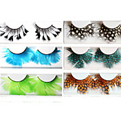 Feather Ball Fake Eyelashes(6 Pairs)