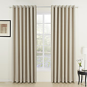 Classic Ivory Solid Energy Saving Curtains (Two Panels)