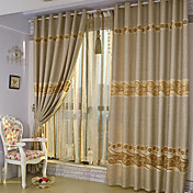 Jacquard Floral Polyester Energy Saving Curtain Panel
