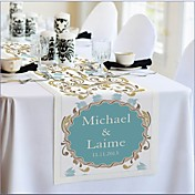 Personalized Reception Desk Table Runner - Flower Print