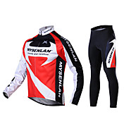 MYSENLAN Men's Fall and Winter Style Cycling Suits with Dual Side Fleece
