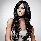 Capless Extra Long High Quality Synthetic Natural Look Brown With Black Curly Hair Wig