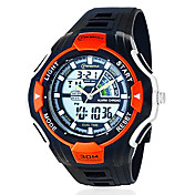 Men's Multi-Functional PU Analog - Digital Quartz Wrist Watch