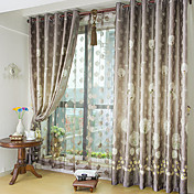 (One Panel) Jacquard Dandelion Polyester Energy Saving Curtain